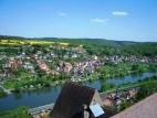 Blick vom Bergfried: Blick vom Bergfried auf die Altstadt von Rothenfels und den Main
