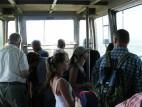 In der Kabine der Tegelbergbahn